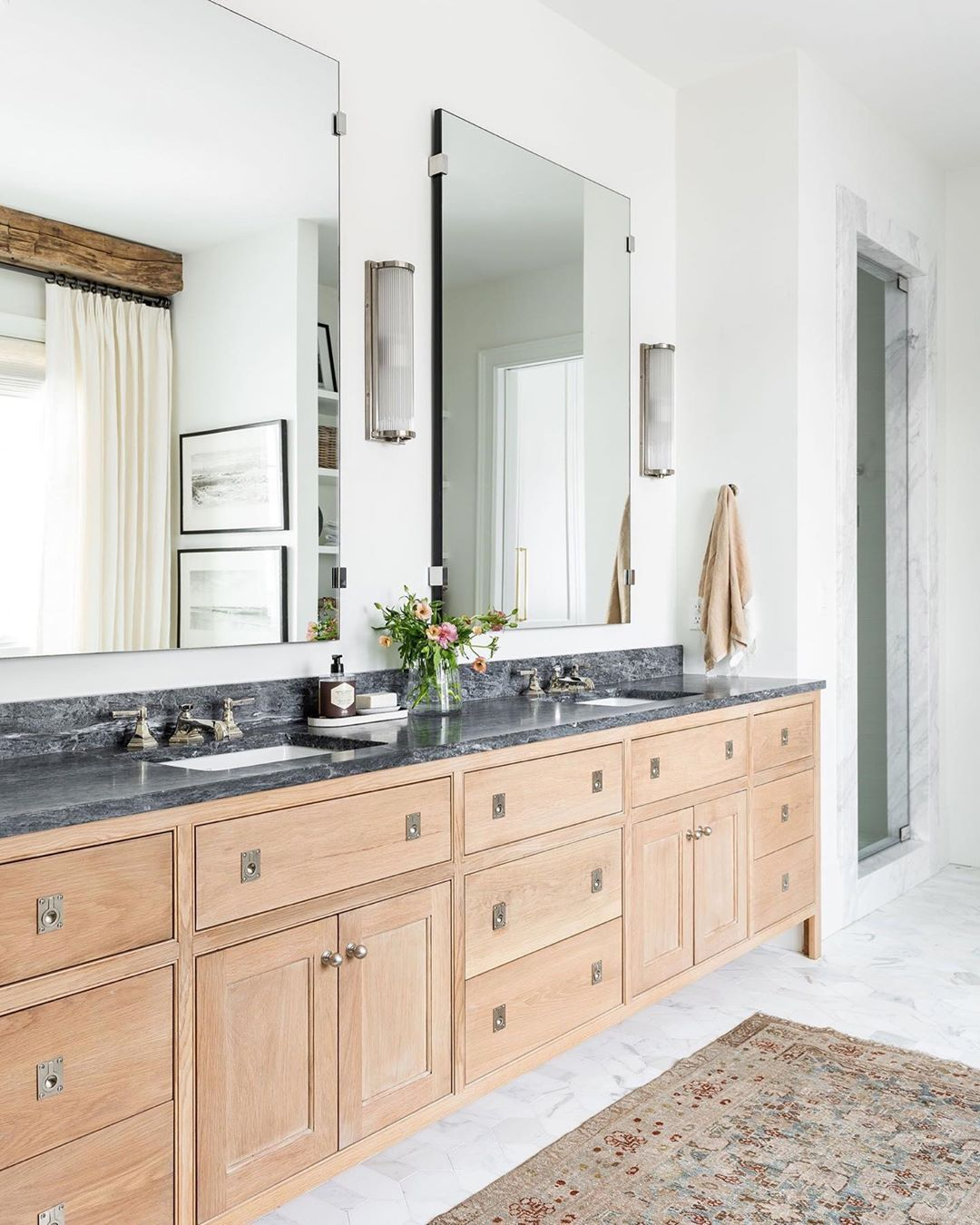 Studio Mcgee S Instagram Profile Post Did You Catch The Tour Of Our Master Bathroom Tomorrow We Ll Share Master Bathroom Vanity Master Bathroom Studio Mcgee