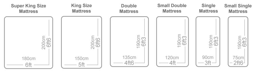 Mattress Sizes Mattress Sizes Bed Mattress Sizes Standard Mattress Sizes