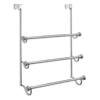 Bed Bath And Beyond Towel Rack Captivating Interdesign® York 3Tier Overthedoor Towel Rack In Brushed Inspiration Design