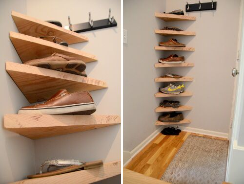 Corner Shoe Shelf Shoe Storage Small Space Diy Shoe Storage
