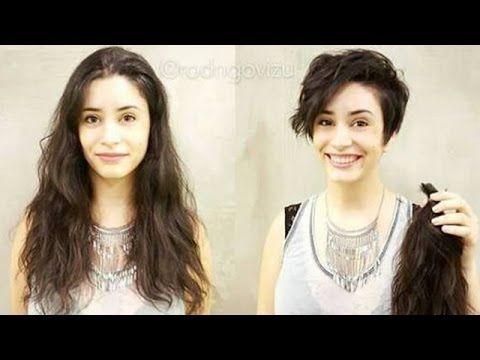 صور تثبت أن قص الشعر يغير شكل الفتاة جدا لا تفوتوا مشاهدتها Hair Makeup Hair Youtube