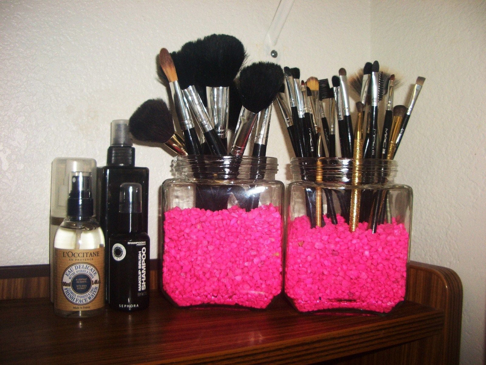 Homemade makeup organizer now they make nice decorative pieces in