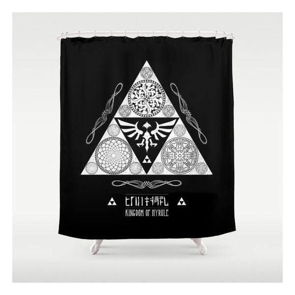Legend Of Zelda Kingdom Hyrule Crest Letterpres Shower Curtain 48