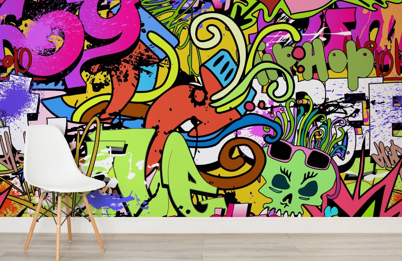 Funky Wall Art Mural Graffiti wallpaper, Graffiti wall