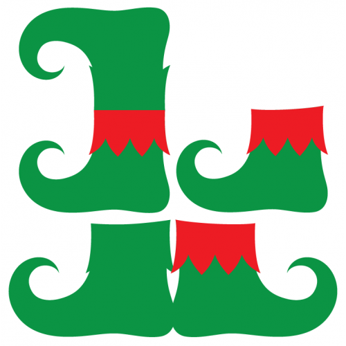 Bird's Free Svgs:  Elf Shoes