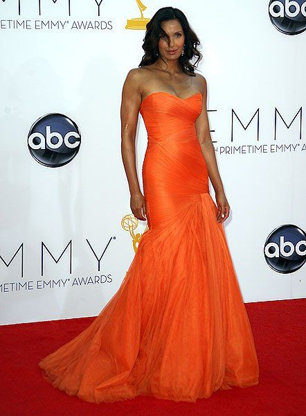 Another lovely lady in Orange! Padma Lakshmi #Emmys