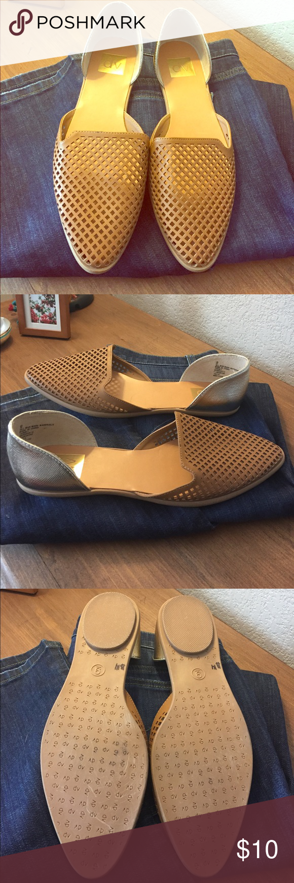 DV by dolce vita slip on cut out Perfect condition, true size 9. Jeans not included in this listing but are in my shop. DV by Dolce Vita Shoes Espadrilles