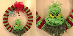 Photo of Fun Grinch crochet wreath [FREE Crochet Pattern]