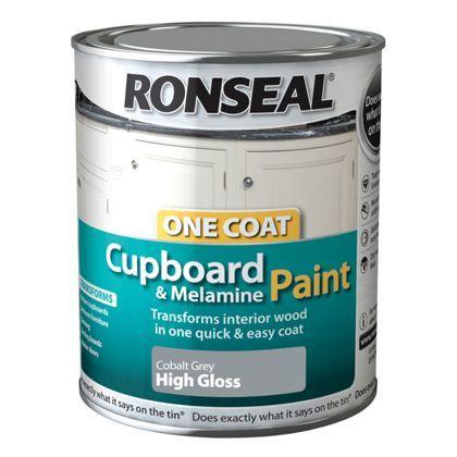 Best Ronseal One Coat Cupboard Melamine Mdf Paint Cobalt Grey 400 x 300