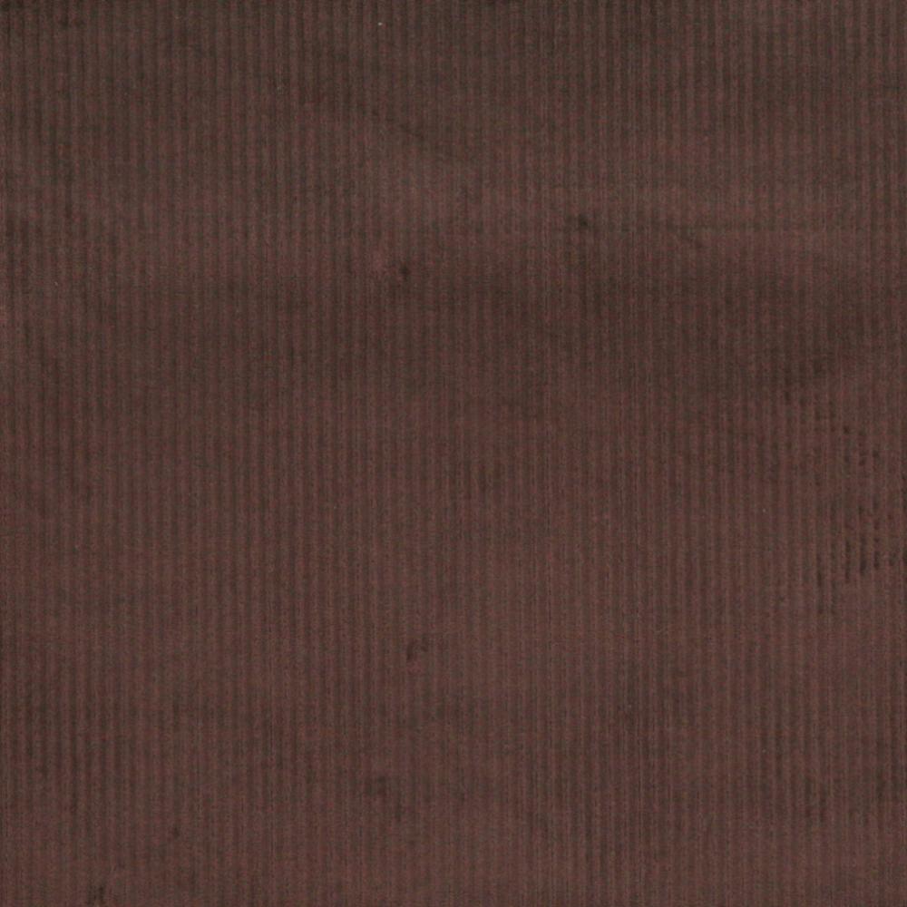 Dark Brown Corduroy Striped Velvet Upholstery Fabric By The Yard