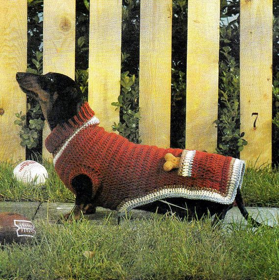 vintage crochet pattern dog puppy turtle neck sweater coat with ...