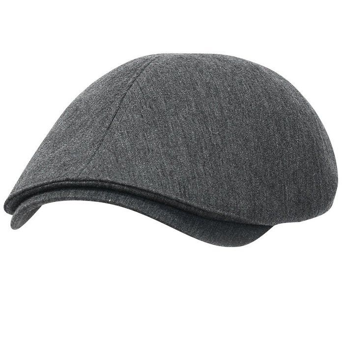 97530e89d69 ililily New Men s Cotton Flat Cap Cabbie Hat Gatsby Ivy Caps Irish Hunting  Hats Newsboy with Stretch fit (flatcap-004-1) Grey