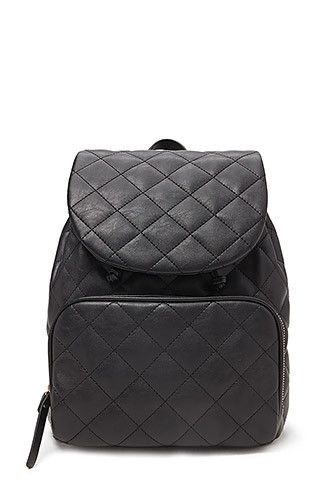 Quilted Faux Leather Backpack | Clothes I Want :) | Pinterest ... : quilted faux leather backpack - Adamdwight.com