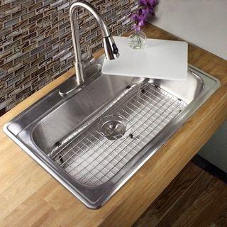 30 Inch Drop In Kitchen Sink 33 inch 18-gauge stainless steel (silver) drop-in single bowl