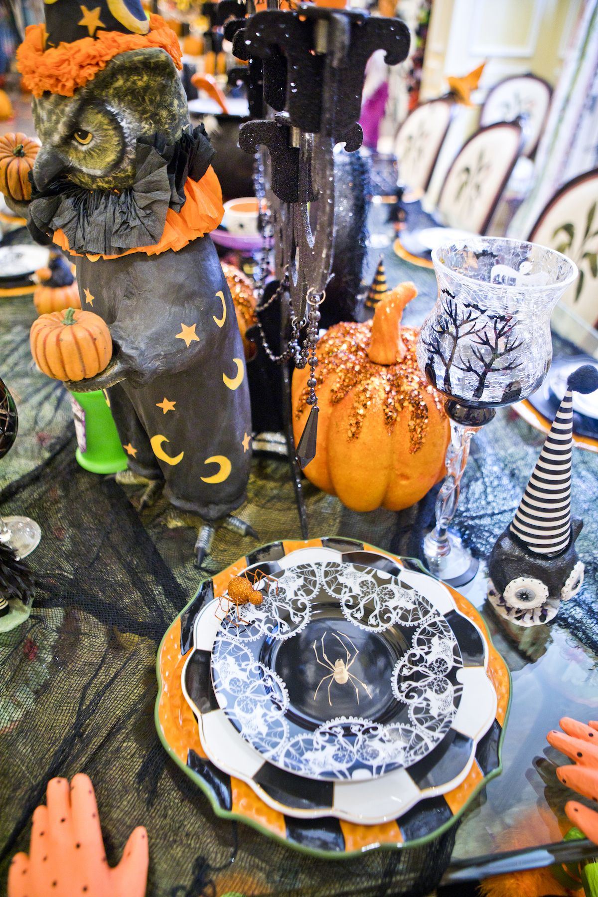 Halloween table setting idea HALLOWEEN Pinterest Halloween - Halloween Table Decorations Pinterest