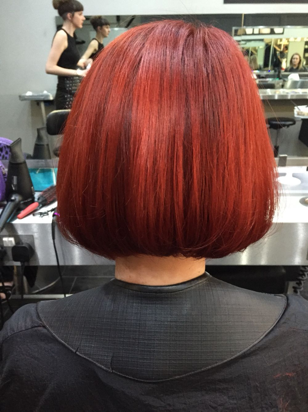 Gorgeous red bob (With images)  Bob hairstyles, Long hair styles