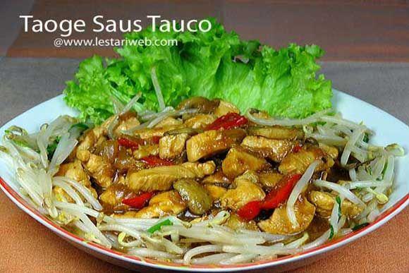 Taoge Saus Tauco Resep Resep Masakan Asia Makanan Sehat Resep