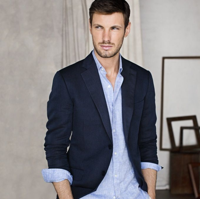 Every guy absolutely needs a navy blazer; It's extremely ...