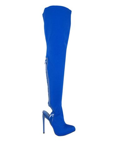 Another great find on #zulily! Royal Blue Asia Over-the-Knee Boot #zulilyfinds