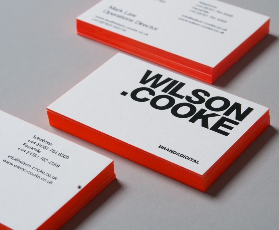 Wilson cooke new business cards geschftsausstattung pinterest wilson cooke new business cards colourmoves