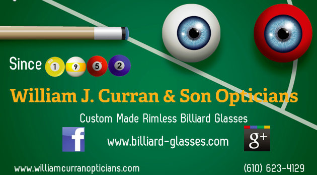 Our Billiard Glasses Business Card