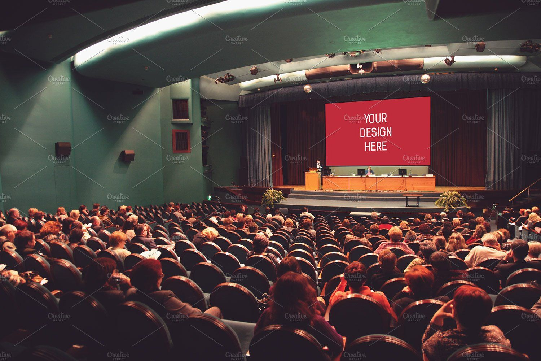 Auditorium Projector Mock Up 1 Mocking Mockup Psd Photo Filter