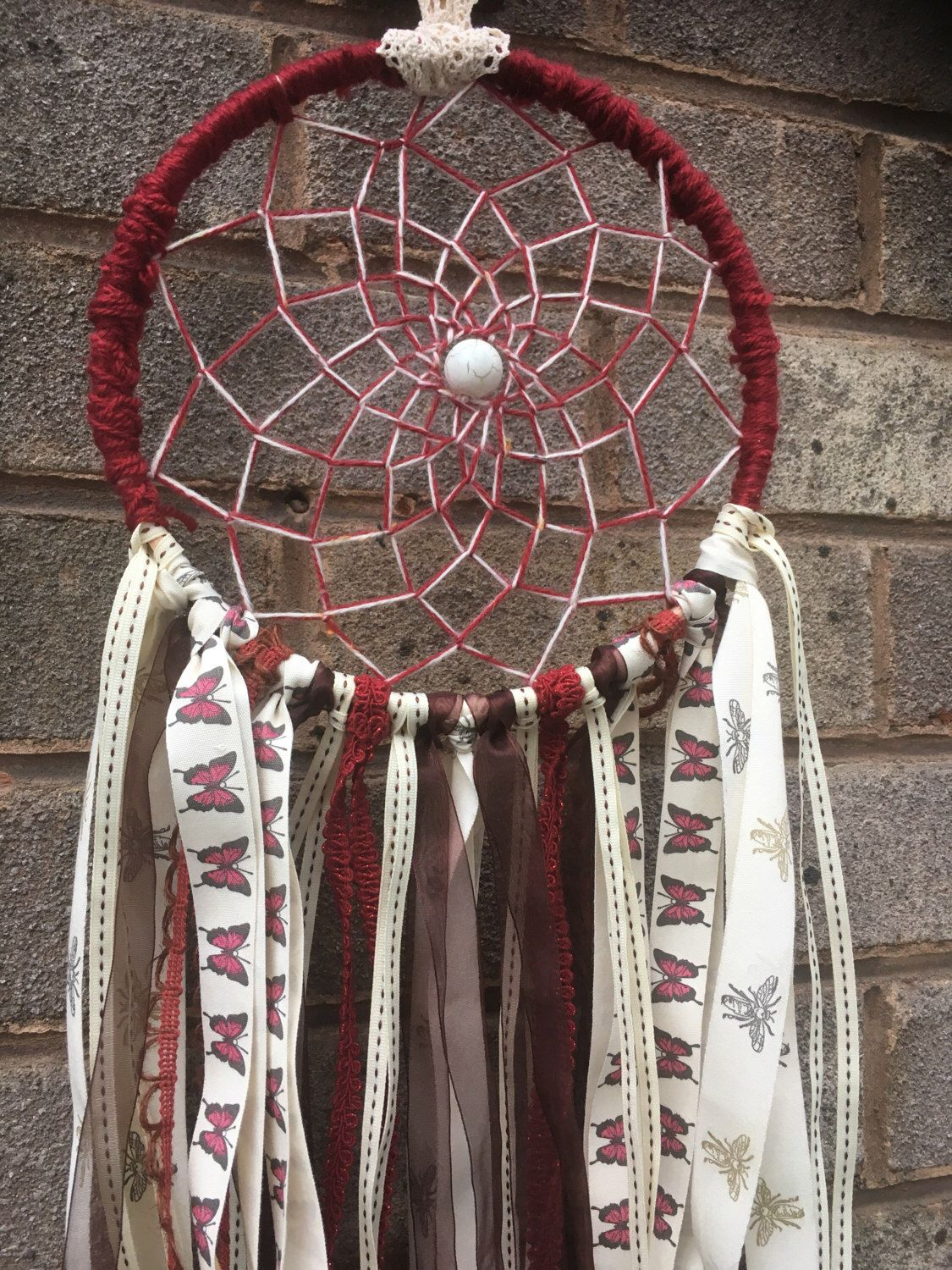 Dream Catchers For Sale Uk SALEBoho DecorBohemian Dream CatcherGypsy Decor deep red and 29