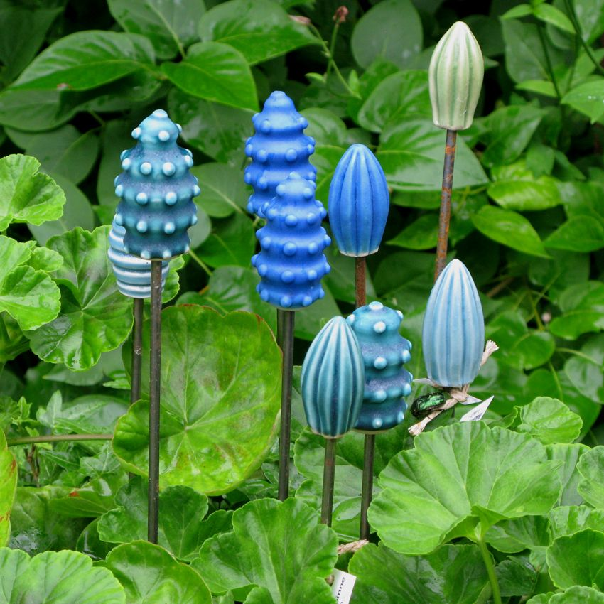 Garden Art, Ceramic Flowers, Pottery