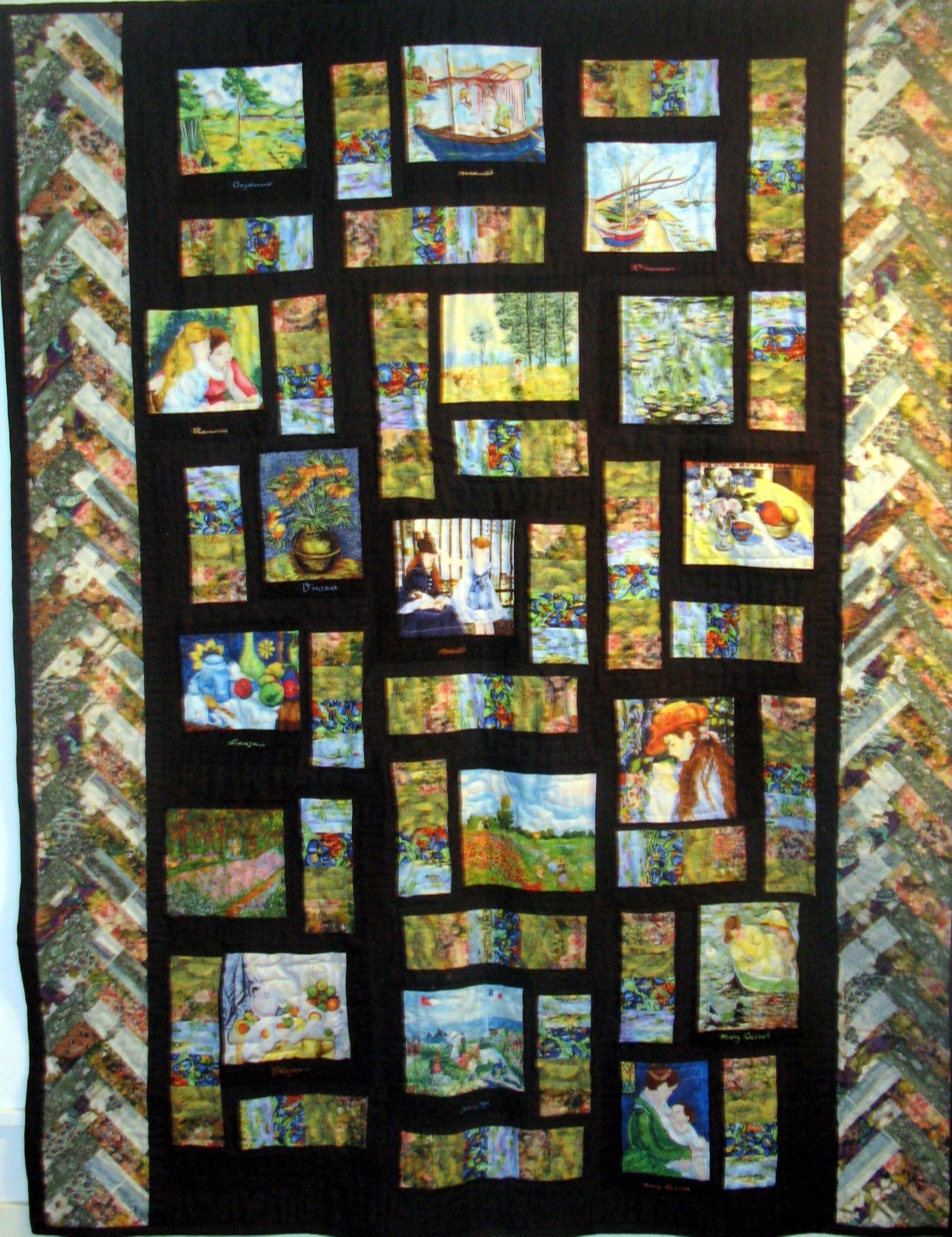 Impressionist quilt | My Quilts | Pinterest | Quilt and Impressionist : impressionist quilts - Adamdwight.com