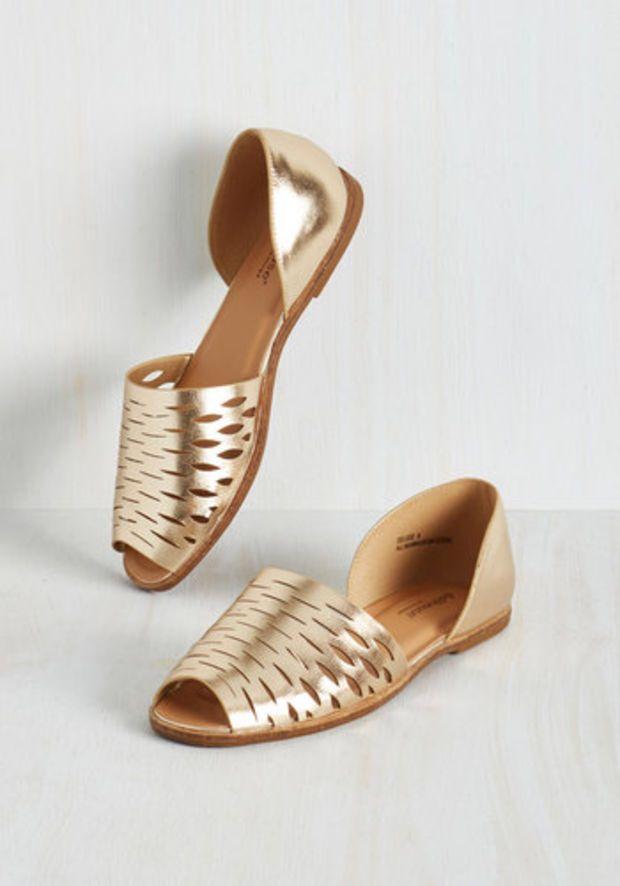 72786574650 Zapatos Dorados · Zapatos De Chico · Golden flat