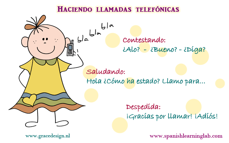 making phone calls in spanish mini conversations tips practice this lesson covers a few of. Black Bedroom Furniture Sets. Home Design Ideas