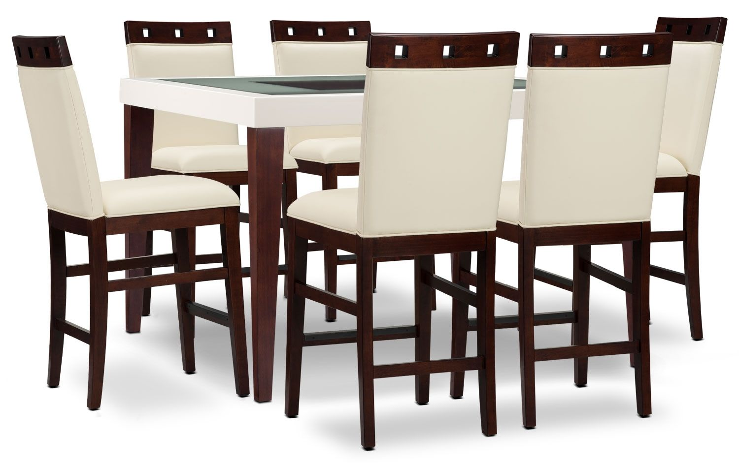 Dining Room Furniture Zeno 7 Piece Counter Height Dining Package