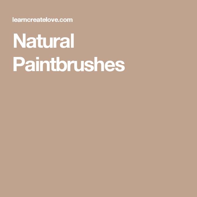 Natural Paintbrushes