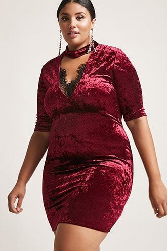 7537f4eef3d Product Name Plus Size Crushed Velvet Lace-Up Dress