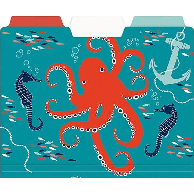 dive into your sea of paperwork with the nautical file folders u2013 set of 6