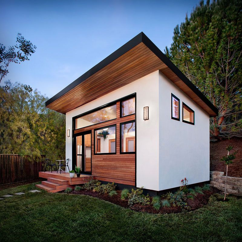 This contemporary 264 square foot prefab home designed by Avava