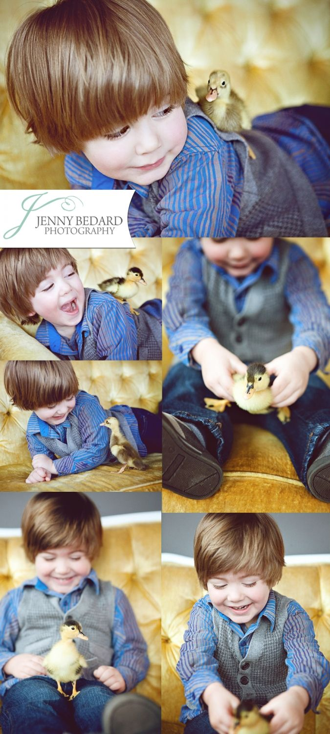 [Photo Ideas] Easter + Baby Ducks + Vintage Couch