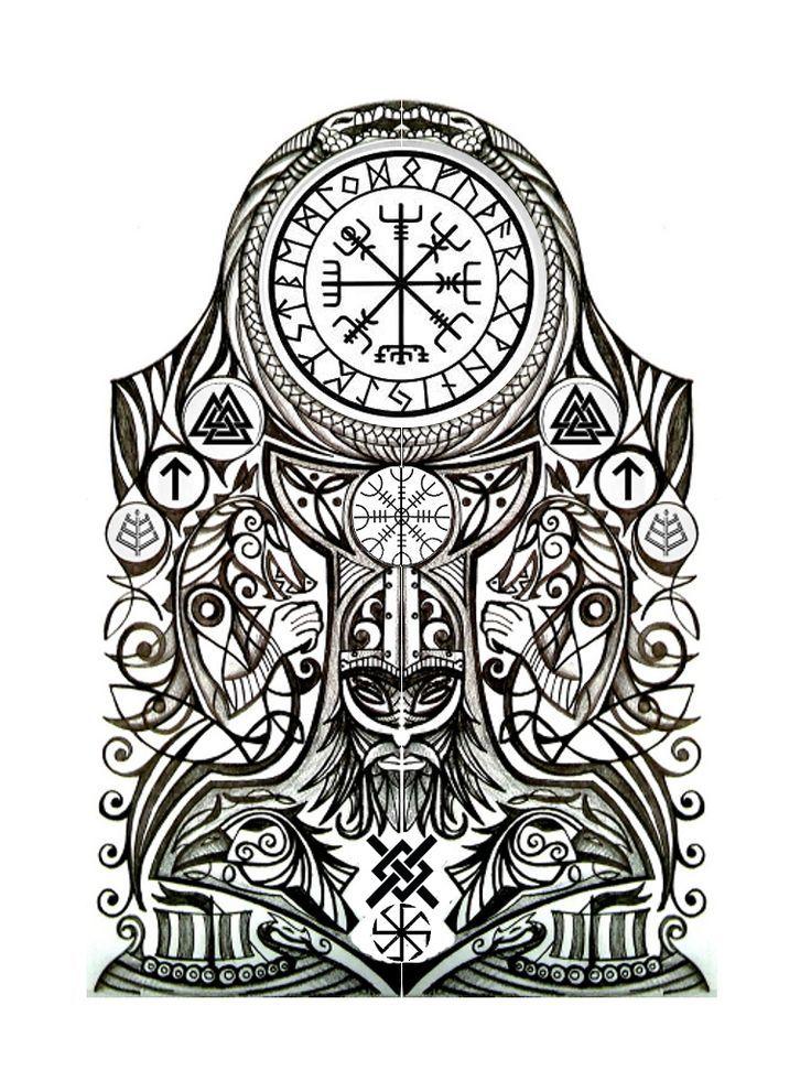 Viking Tattoo Cuervos Pinterest Tatuaje Nordico Tatuajes