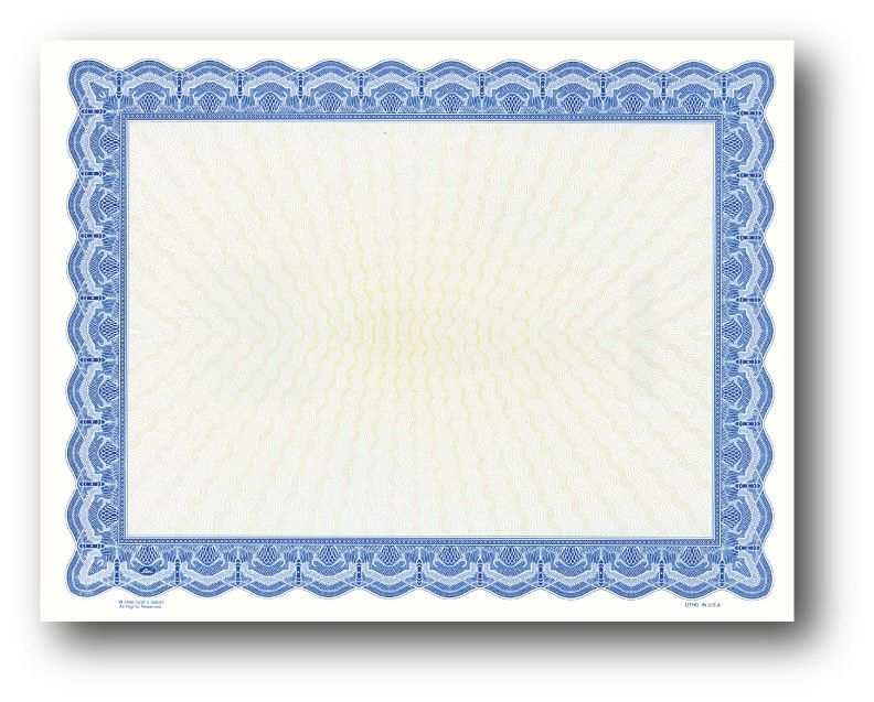 Blank Certificates - DesktopSupplies backgrounds, clipart - blank certificate of recognition