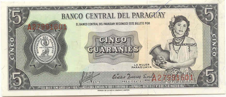 dinero de Paraguay | Publicado por Rodolfo Escobar en 18:45