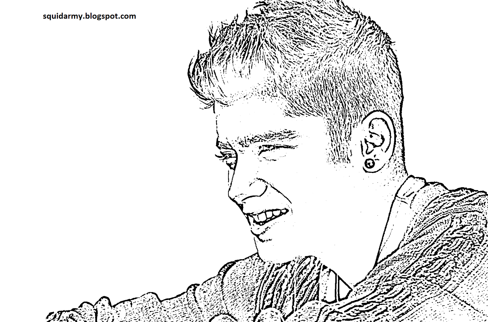 one direction coloring page malik - One Coloring Page