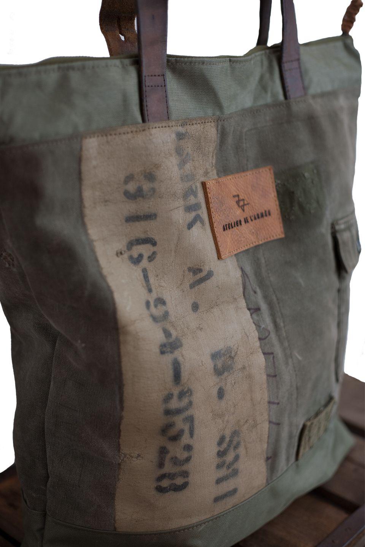 Da Das O Masculinas L'armée Militar Atelier De Vintage Bolsas jLA4R5