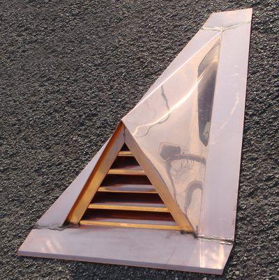 Ejmcopper Com Custom Copper Dormer Vents Alpine Dormer Vent Metal Roof Copper Roof Copper Work