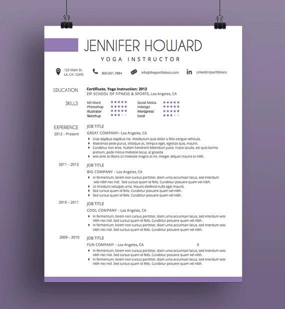 Creative Resume Template, CV Template + Cover Letter, Modern Resume ...