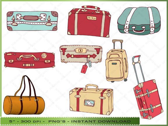 vintage suitcase clipart - google search | 4th grade travel theme