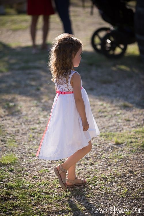 Petite robe blanche champetre