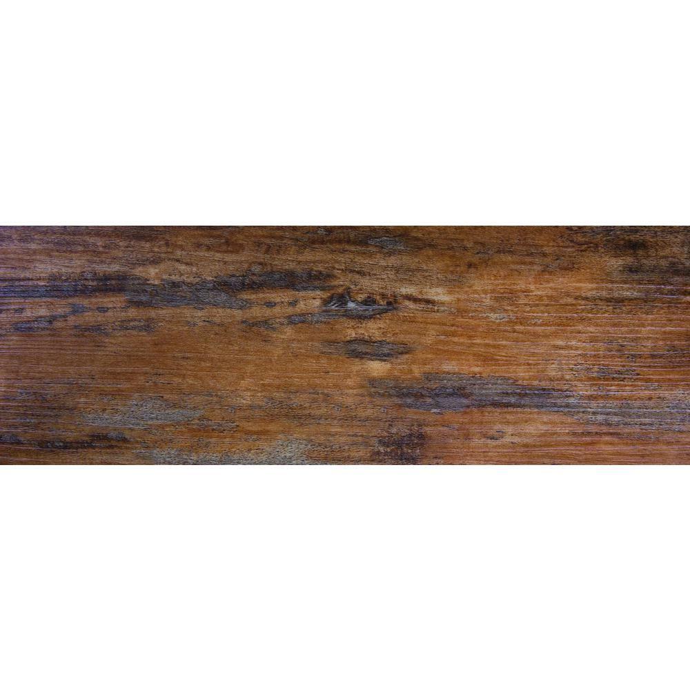 Floorworks Distressed Tuscan 6 in. x 36 in. Glue Down