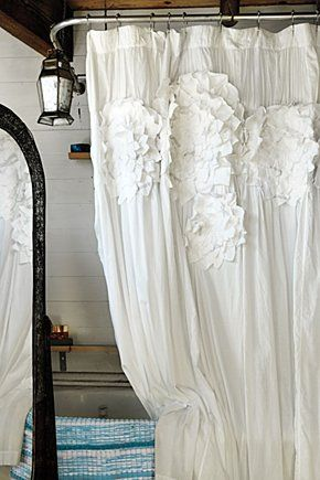 Sculpted Mums Shower Curtain Anthropologie Com Shabby Chic