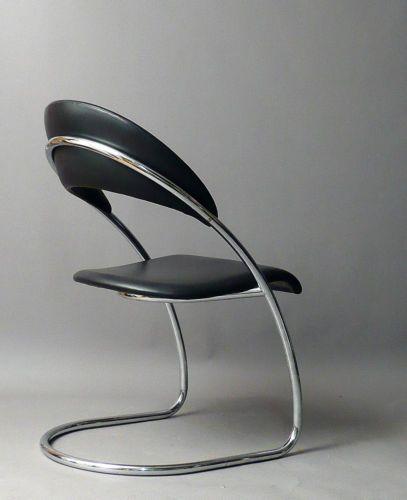 6-six-Thonet-chairs-st14-H-amp-W-Luckhardt-Desta-Bauhaus-Leather - esszimmer h amp amp h
