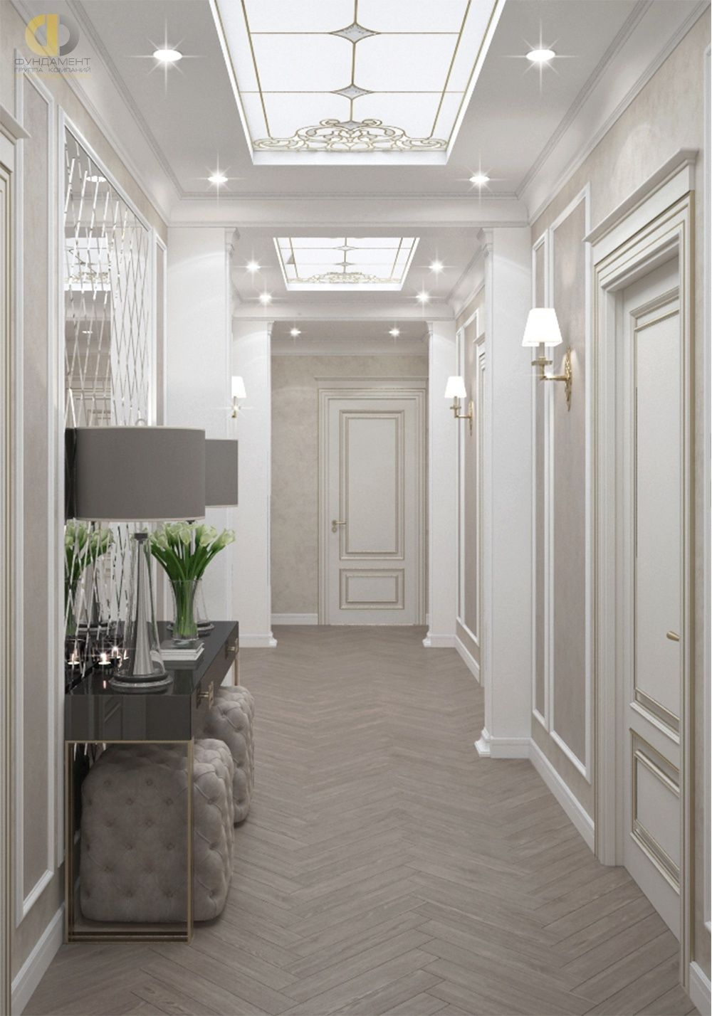 дизайн интерьера квартиры в стиле неоклассика 6